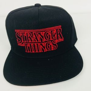 4914707646a Loungefly Accessories - Black Stranger Things Black Baseball Cap Hat